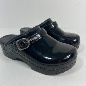 Dansko Kids Back Strap Patent Leather Clog 32